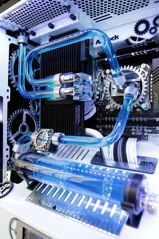 ASROCK华擎太极主板 蓝色水冷MOD方案图片
