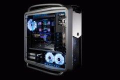 Cooler Master COMSOM 2机箱淡蓝色水冷方案(台北电脑