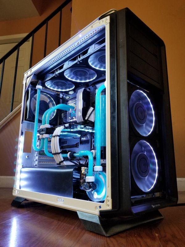 双水冷排Ice Station浅蓝硬管水冷机箱MOD图片