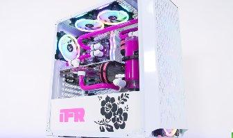 女性专属 Tt水冷 纯净粉色水路、纯白机箱水冷主